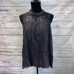 Taylor & Sage Lace Tank Top Large